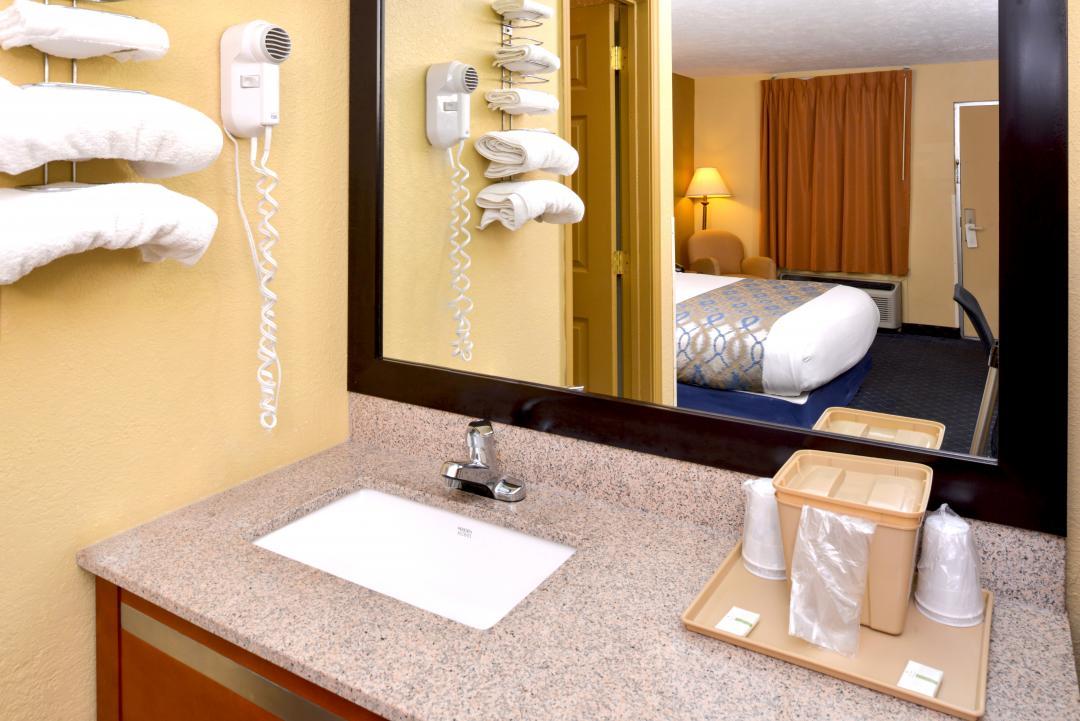 Hotel guest bathroom vanity