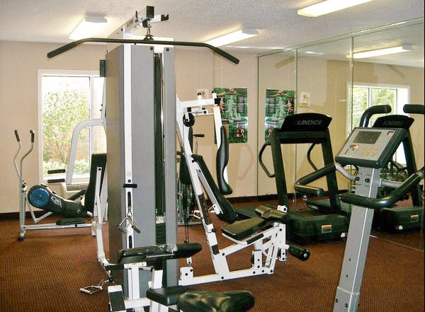 Gym work out area