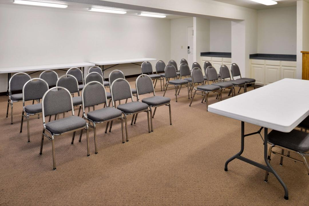 Meeting room set for group event