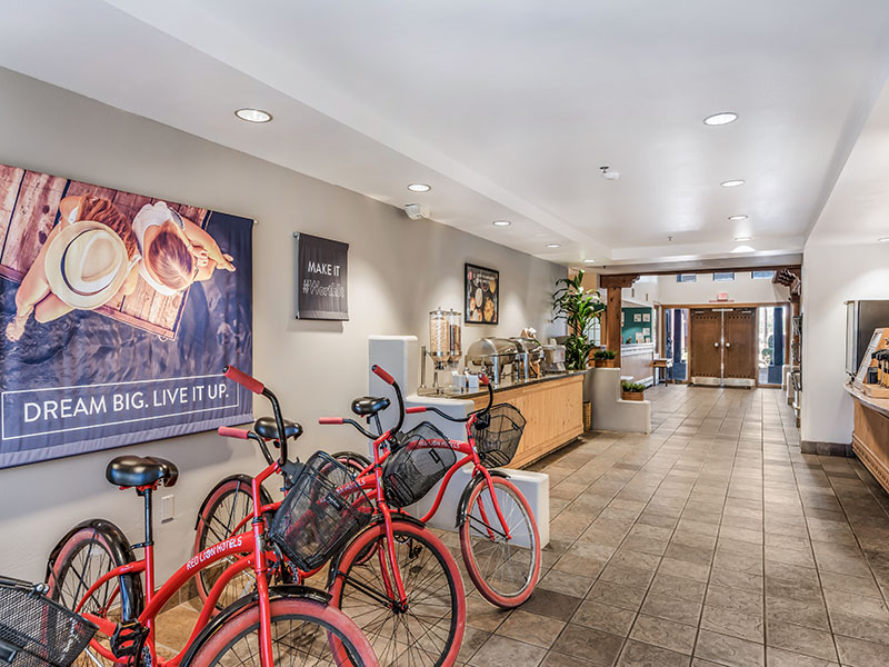 bikes in lobby