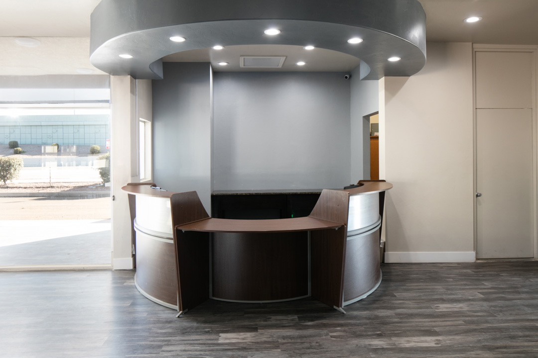 Round and Well Lit front desk