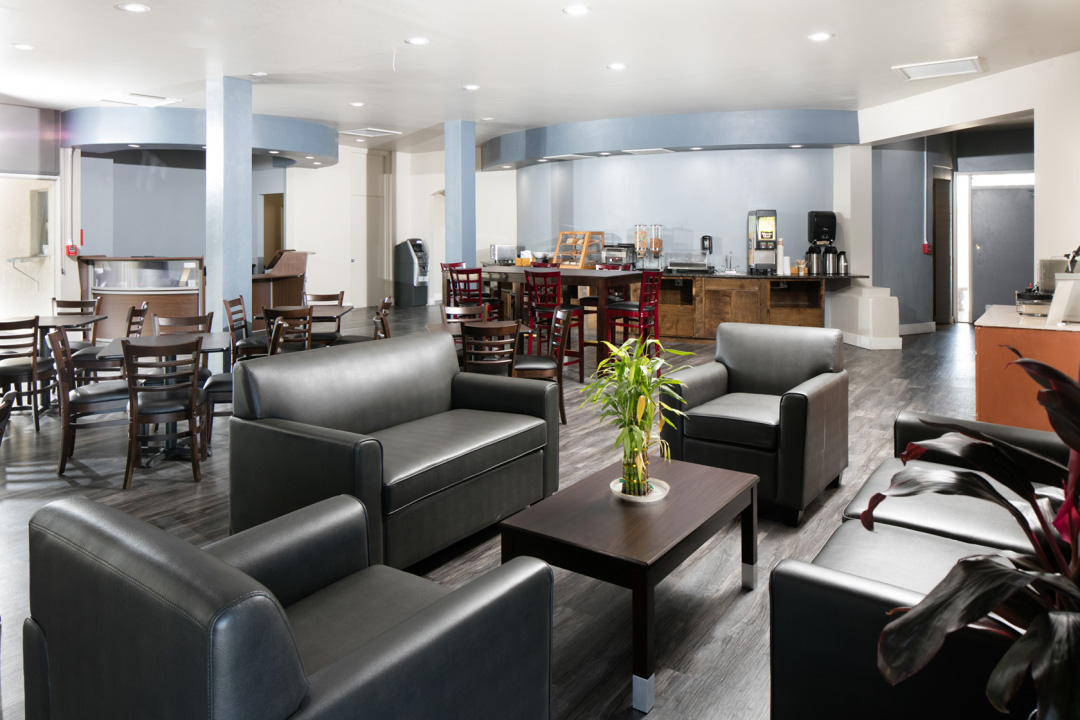 Spacious Dining and Seating Area with Coffee