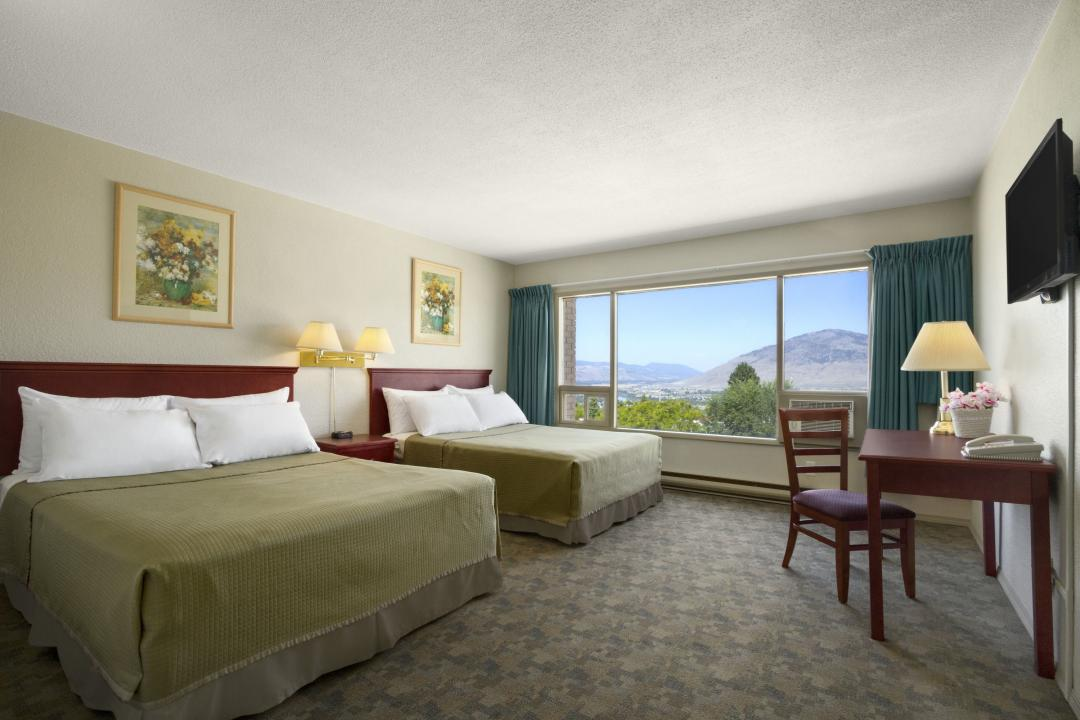 Guest Room with Two Queen Beds with Mountain View