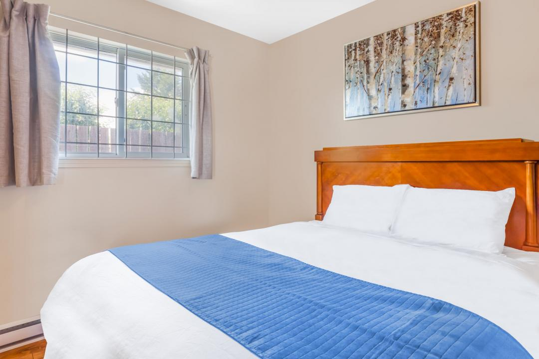 Guest room with bed