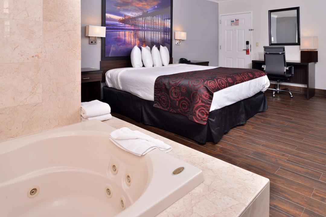 One King Bed Guestroom with Jetted Tub
