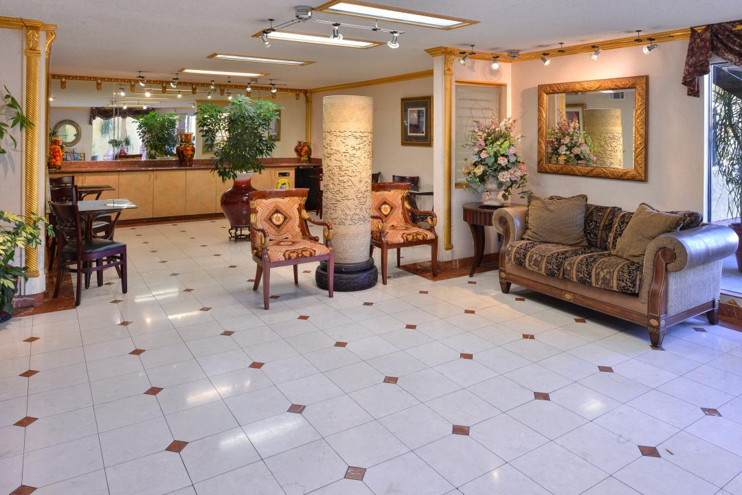 Lobby and reception area