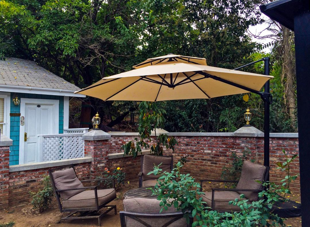 Outside Patio Area with umbrella