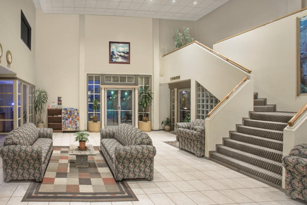 Lobby Seating with Lounge and Stairs