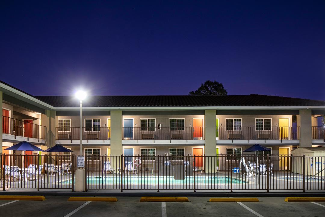 Hotel Exterior at Evening