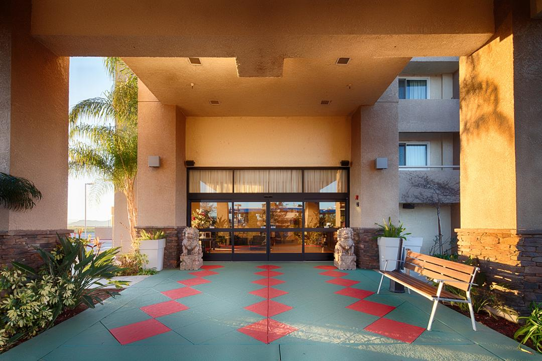 Perris Hotel Front Entrance
