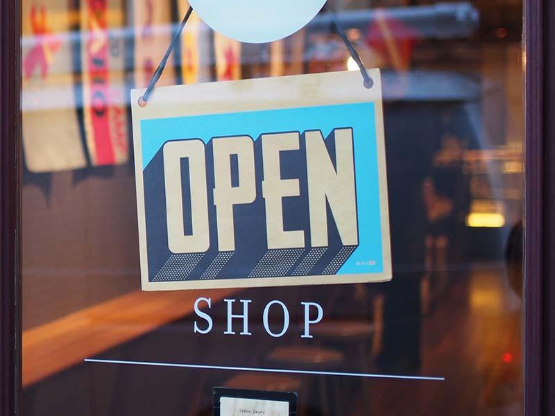 gift shop door