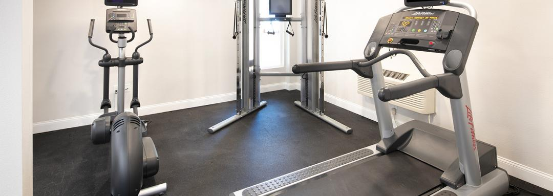 Fitness Facility with treadmill and elliptical machine