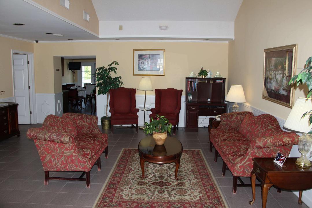 Hotel lobby sitting area