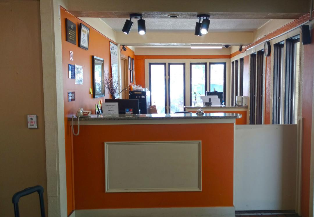 Front desk and lobby area