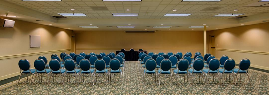 Meeting room set for event