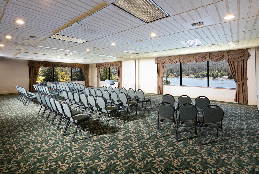 Large Meeting Room Overlooking Lake