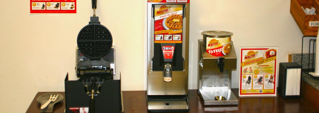 Breakfast Options Including Waffles