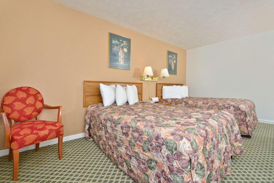 Two Double Beds with chair