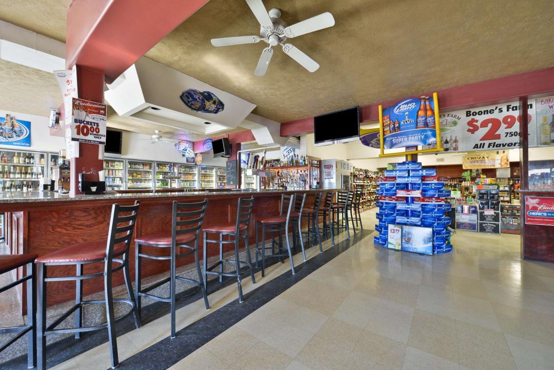 Sports Bar attached liquor store