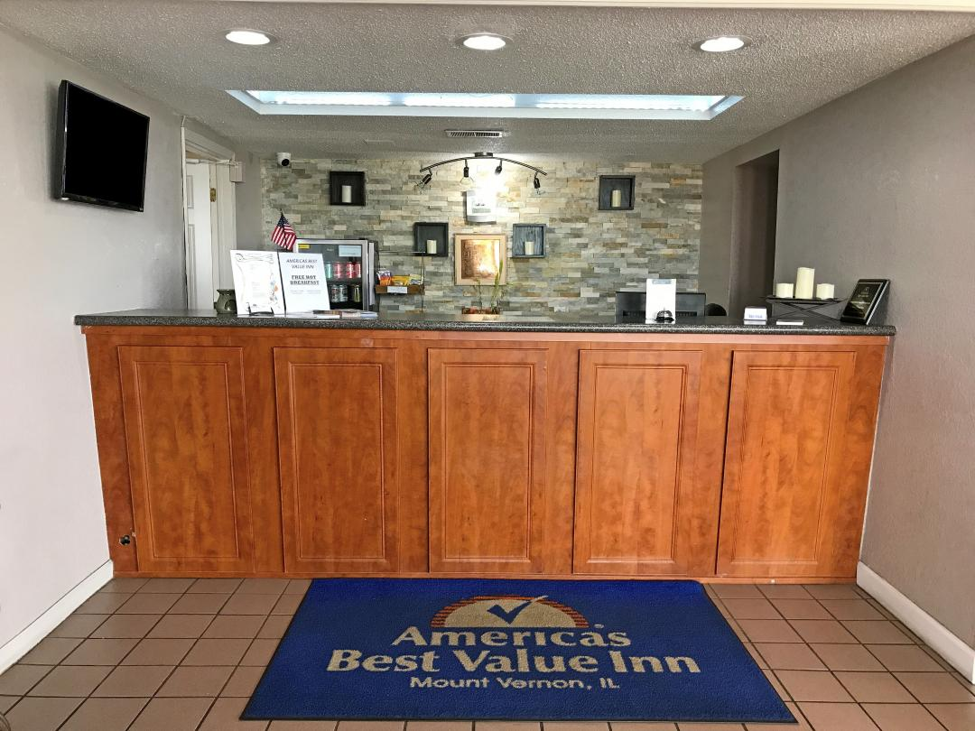 Front Desk and lobby check in area