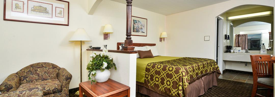 Guest Room with King Bed with Sofa