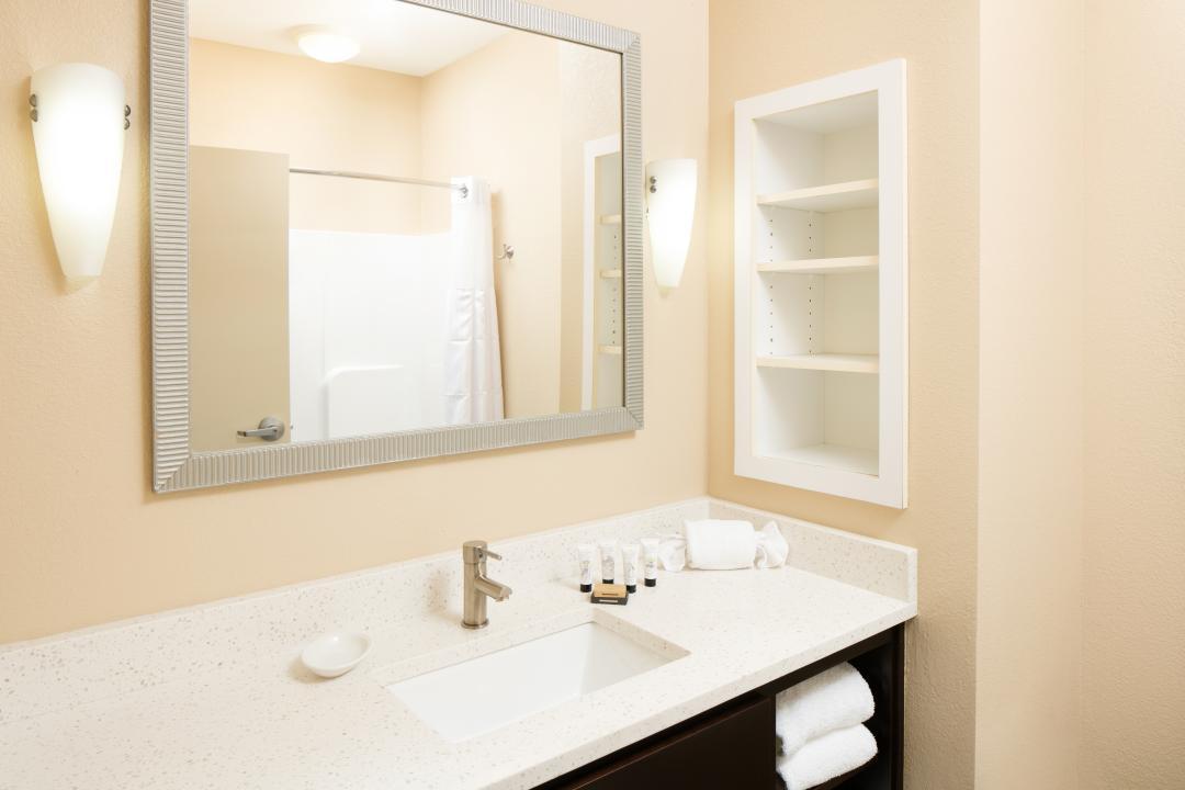 Guest bathroom with mirror