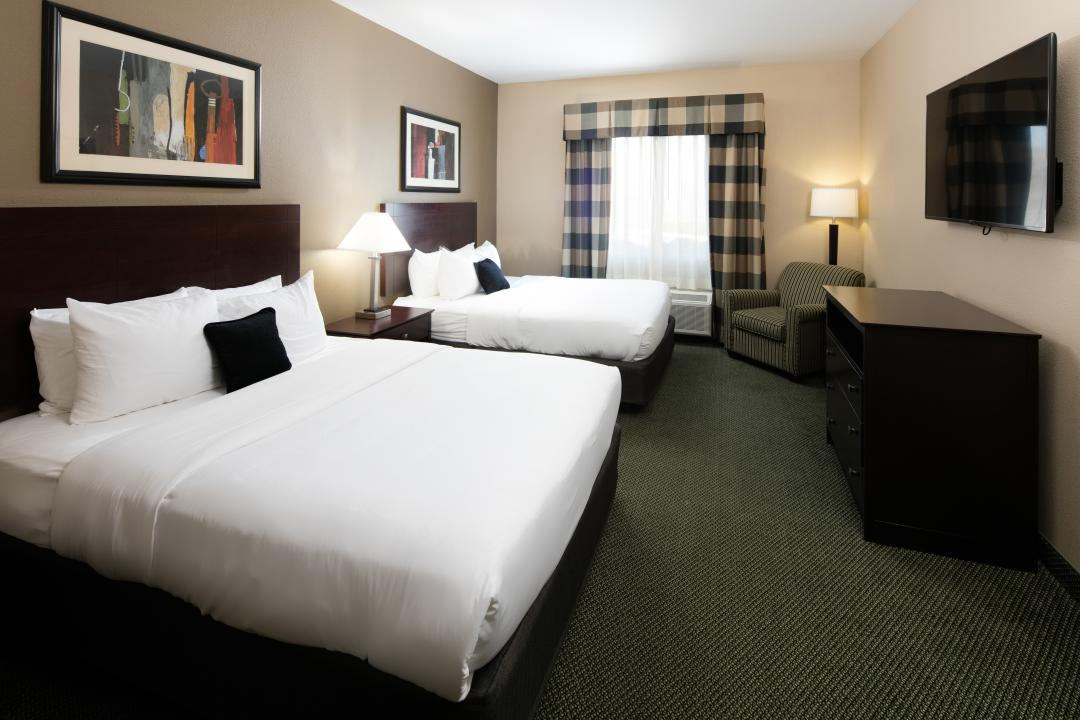 Two Queen Beds Guestroom with Flat Screen TV