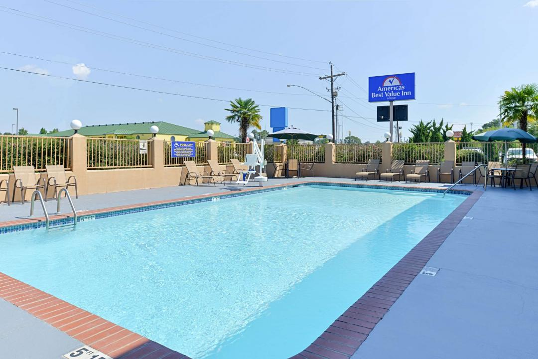 View of our beautiful outdoor pool.
