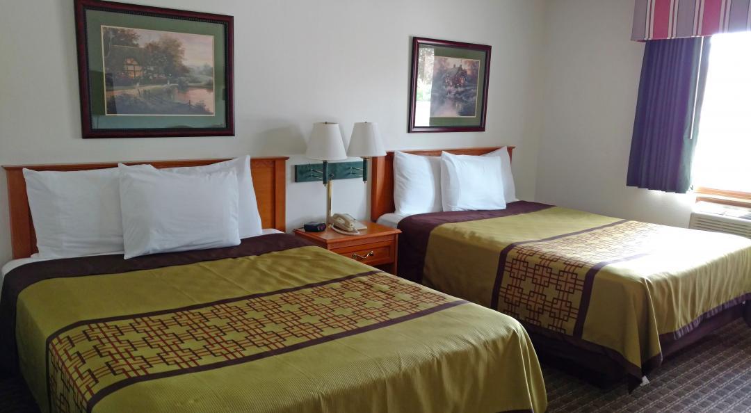 Guest bedroom with two queen beds