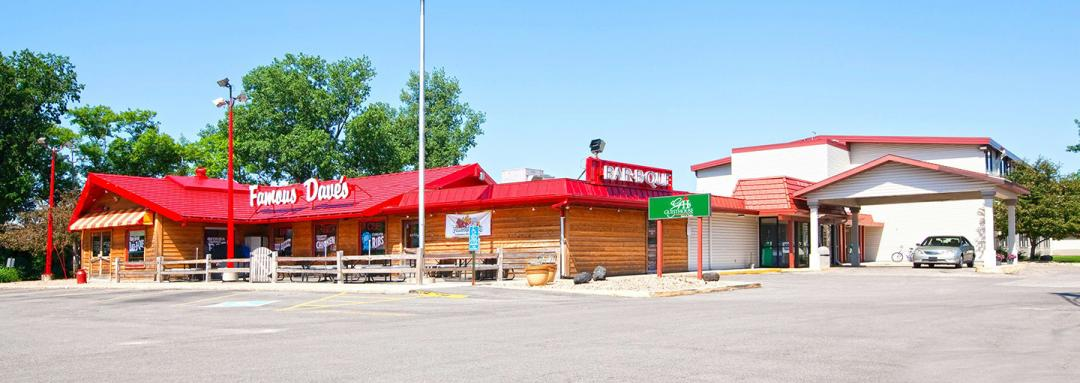 Exterior of Famous Dave's BBQ restaurant