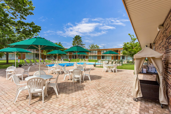 Outdoor Pool and Patio Area