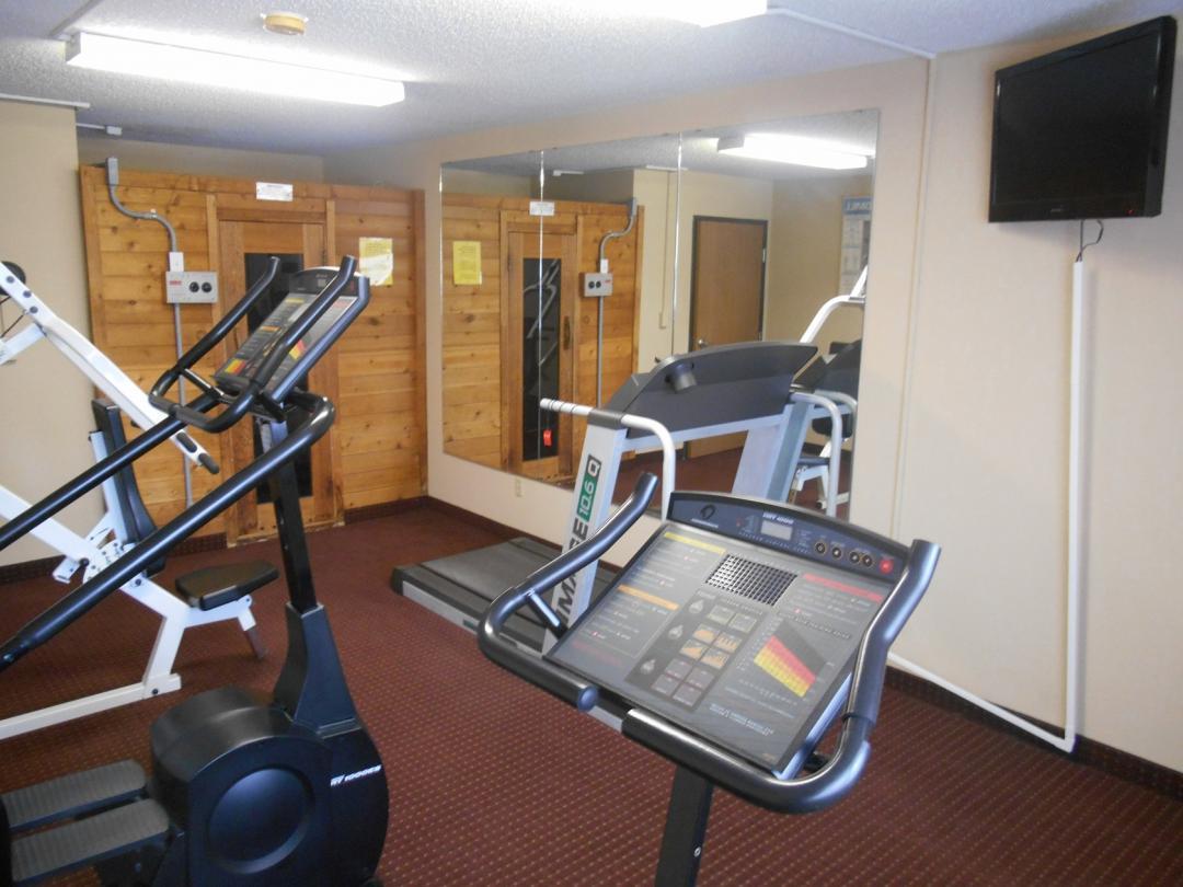 Gym with cardio machines