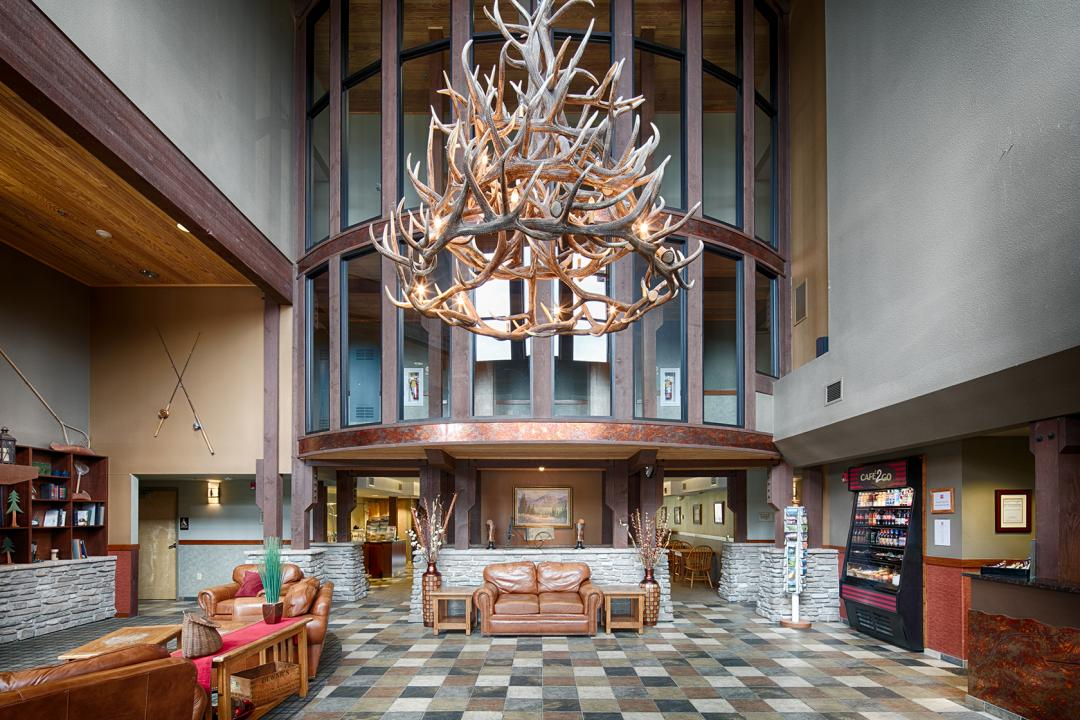 Antler Chandelier in Lobby