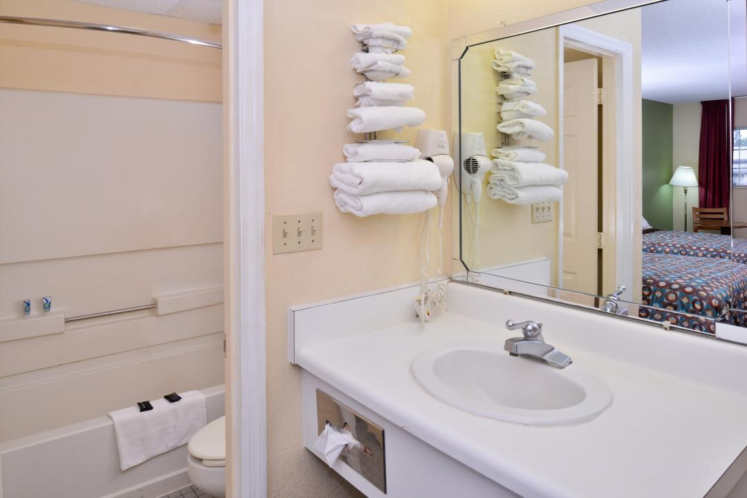 Large Vanity with Complimentary Spa Soaps