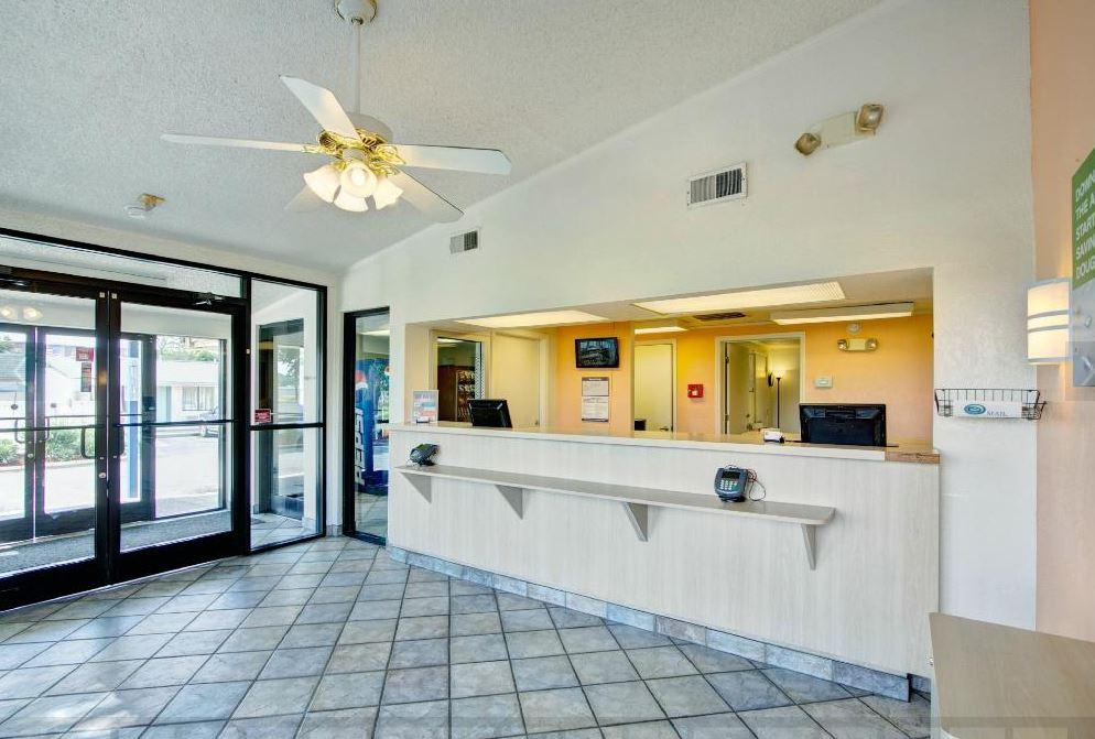 Clean and well lit front desk