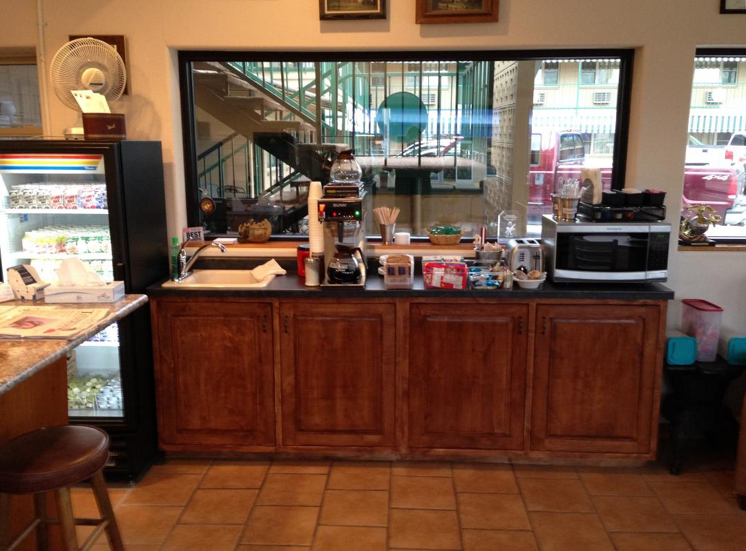 View of our breakfast bar area