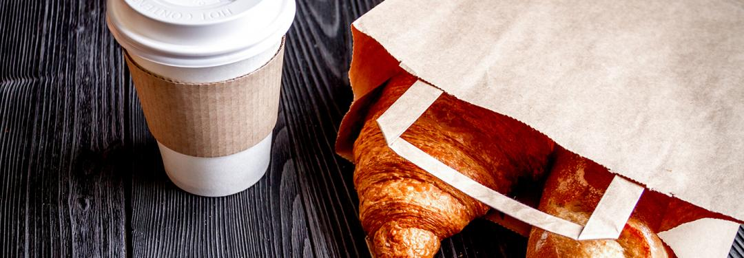 Coffee and pastry breakfast