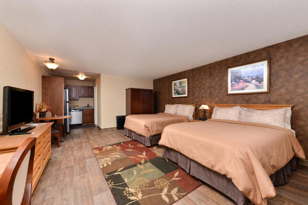Two Queen Bed Kitchenette Suite