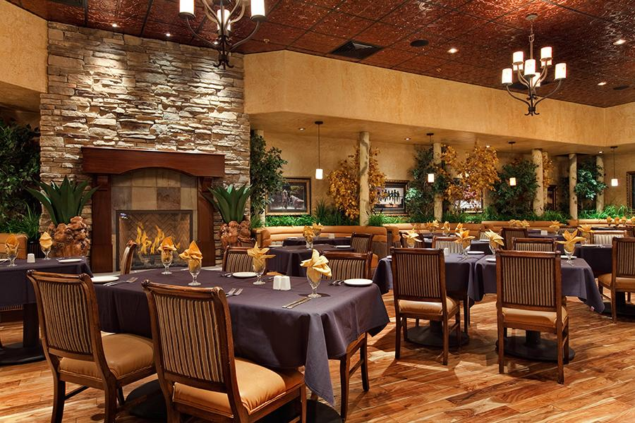 Fireplace Restaurant Dining