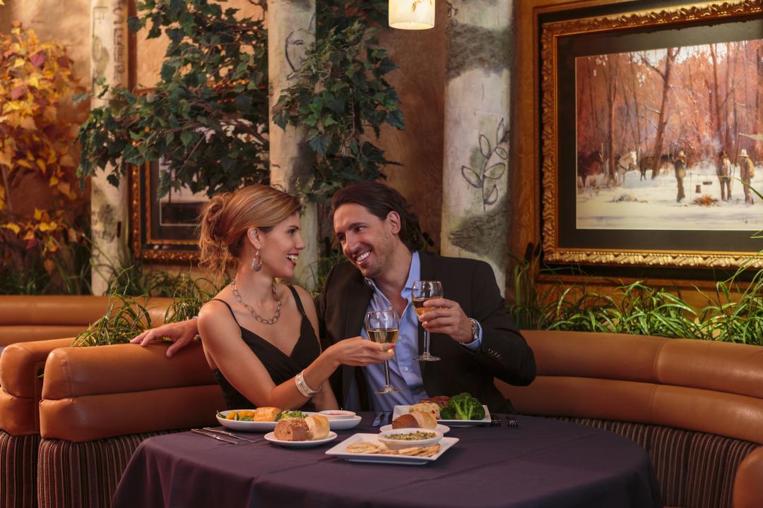Couple Dining in Aspen Restaurant