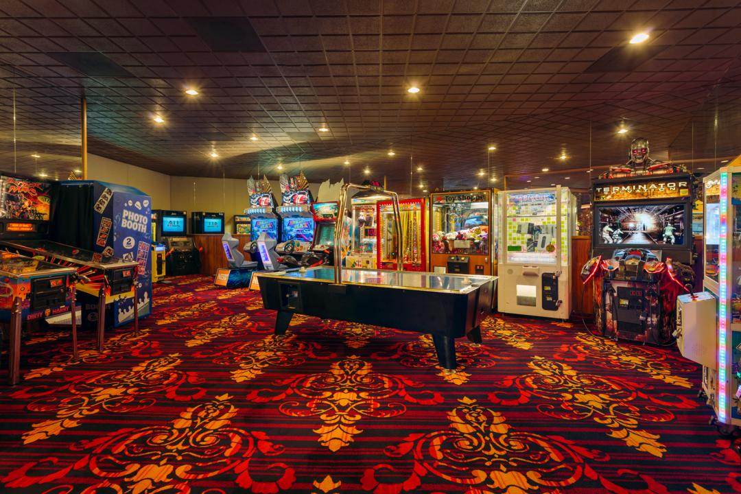 Arcade Room with Pin Ball Machines and Video Machines