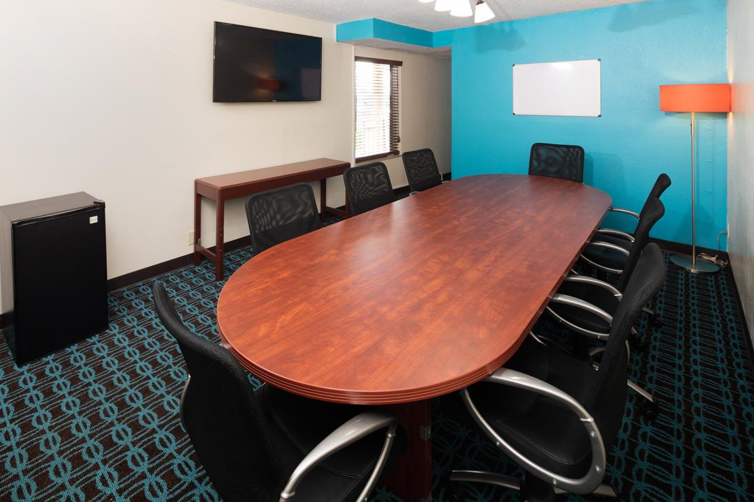 Boardroom with coffee table and chairs