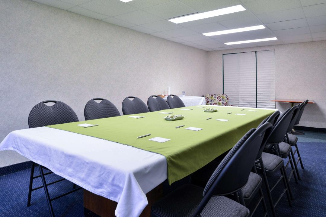 Conference room with meeting table