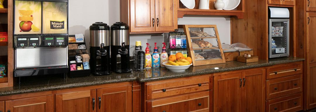 Breakfast Bar with Food Options