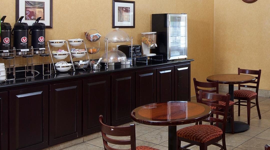 Continental Breakfast Area and seating