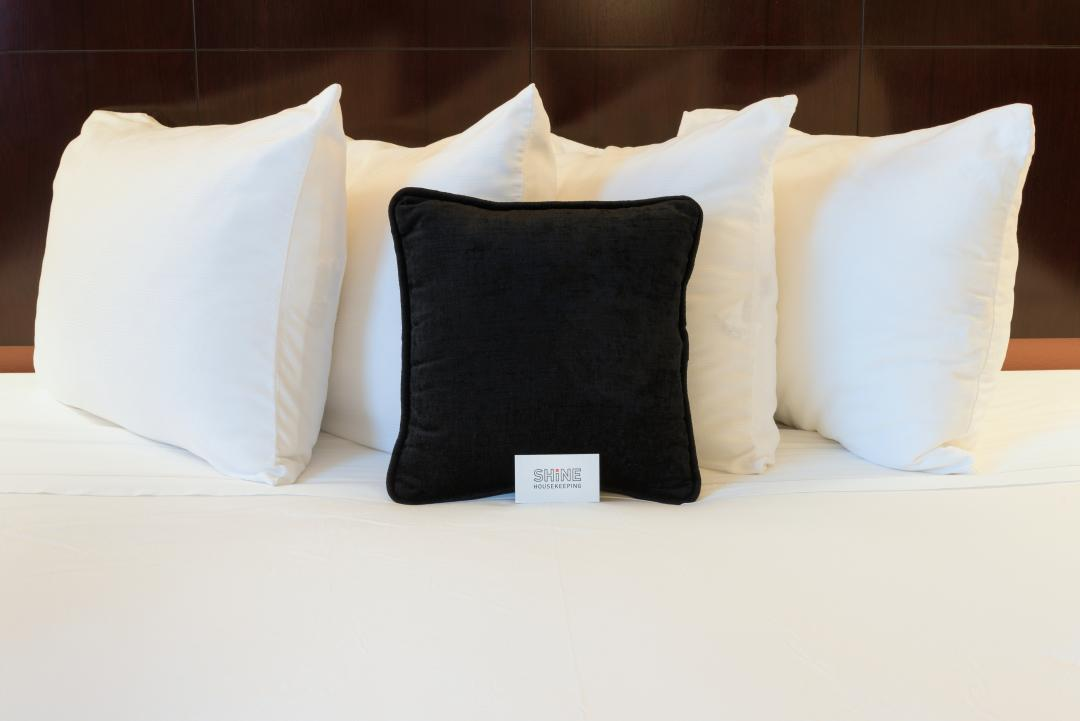 Close up photo of Guestroom Bed pillows