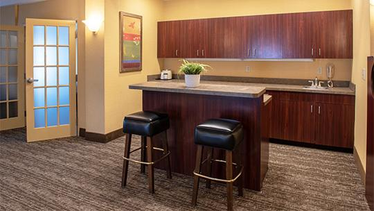 Suite with kitchenette area