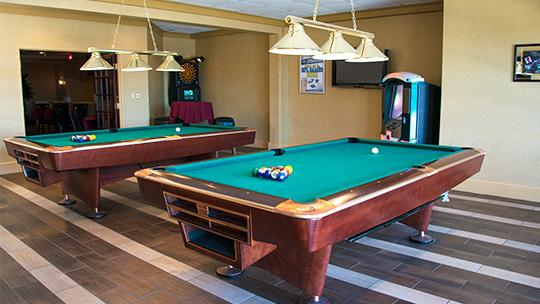 Billiard table room