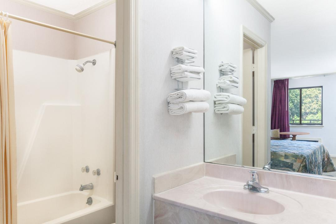 Bathrooms supplied with complimentary bath amenities