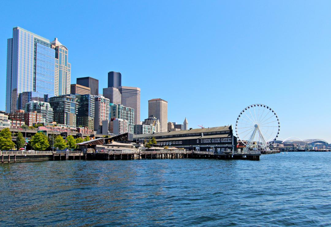 View of Seattle from water